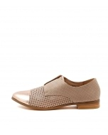 JACCA ROSE GOLD NUDE LEATHER