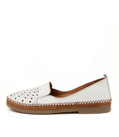 Cannie White Leather