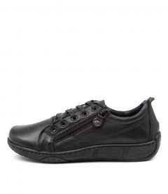 Courtell Black Leather