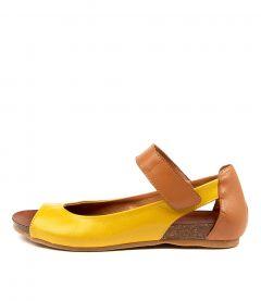 Carly Yellow-tan Leather