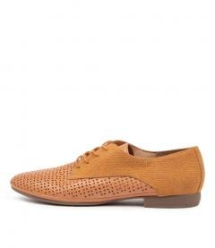 OLENNA DF TAN LEATHER EMBOSS SUEDE