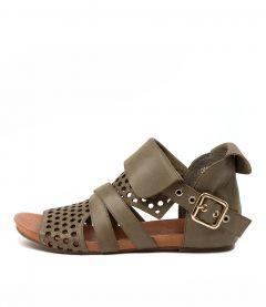 Dwan Khaki Leather