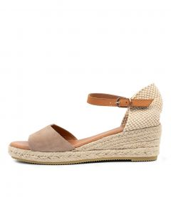 SUZY TAUPE-LT TAN SUEDE L