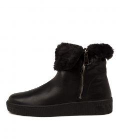 Troy Dj Black Black Sole Leather Fur