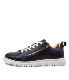 Clarence  Navy Leather
