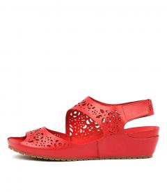 IVANNA RED LEATHER