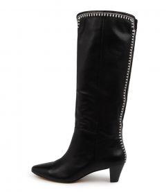 Treasha Mo Black Leather