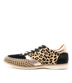TRAINER ROSE LEOPARD LEATHER PONY