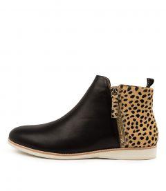Sidezip Boot Blk-cheetah