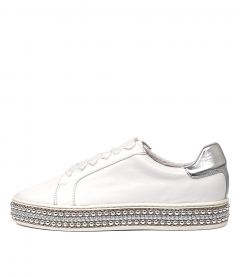 PATE WHITE SILVER LEATHER
