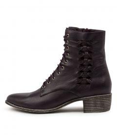 Jaxsen Aubergine Leather
