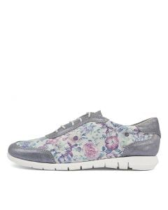 ALL UP BLUE FLORAL LEATHER