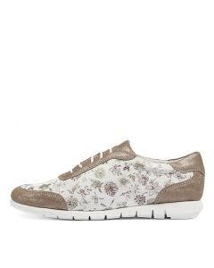 ALL UP TAUPE FLORAL PR LEATHER