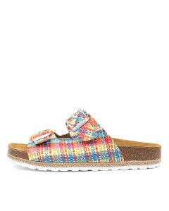 SANDRA BE RED MULTI RAFFIA