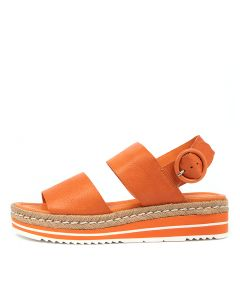 ATHA BRIGHT ORANGE LEATHER