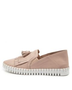 HIRAM NUDE WHITE SOLE LEATHER