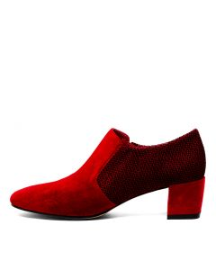 HOSTEEN RED RED DOT SUEDE