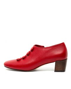 HULDAH RED TUMBLE LEATHER