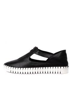 HUNTING BLACK WHITE SOLE LEATHER
