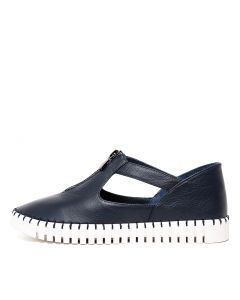 HUNTING NAVY WHITE SOLE LEATHER