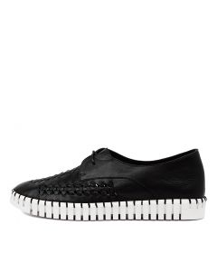HUBERT DJ BLACK WHITE SOLE LEATHER