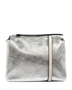 NOVALEE GG SILVER METALLIC VEGAN LEATHER