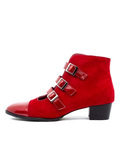 TOCCARA RED RED PATENT SUEDE