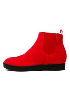 LISHA RED SUEDE