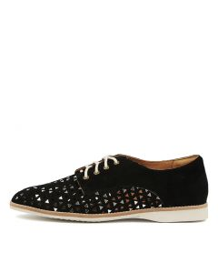 DERBY TRIANGLE PUNCH BLACK SUEDE