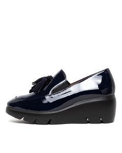 WHISKIT NAVY PATENT LEATHER